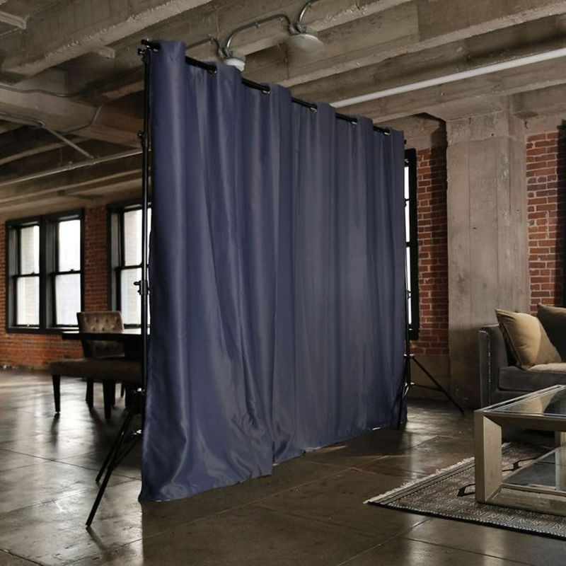 Curtained room divider