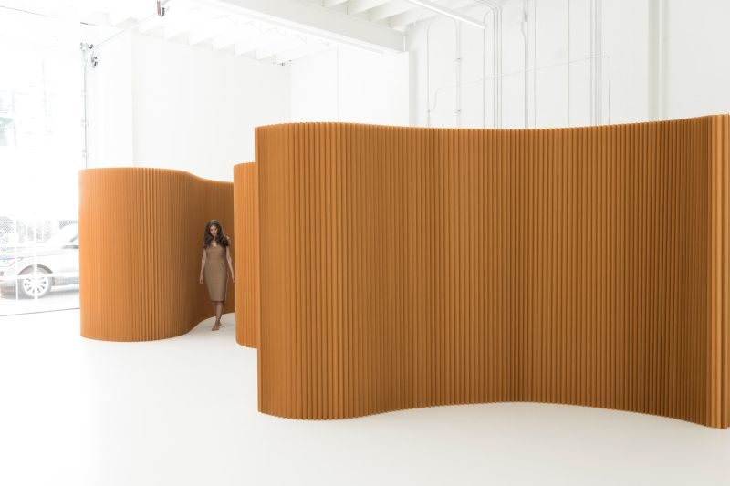 Kraft Paper Softwall Room divider