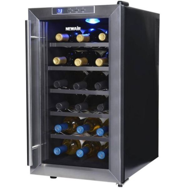 NewAir 18 Bottle BTL Wine Refrigerator Fridge Bottles Chiller