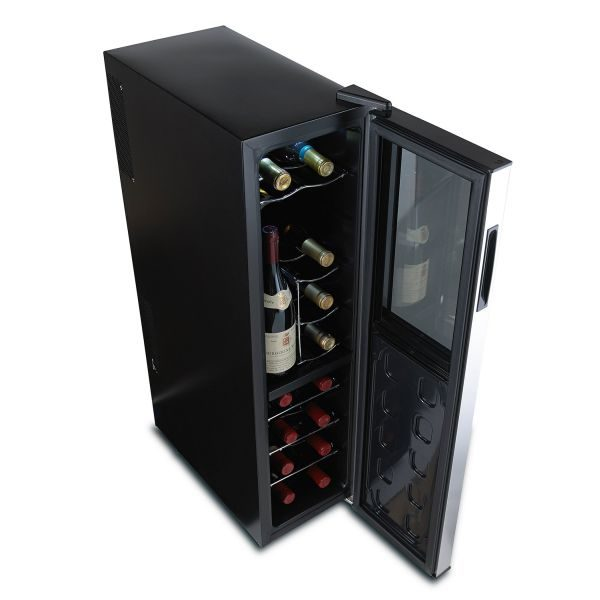 Touschreen-enabled slimline wine cellar