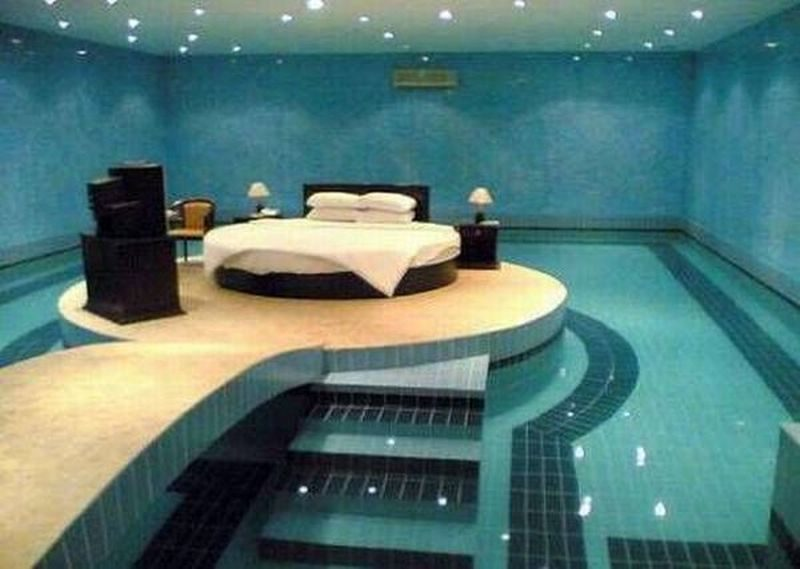 Swimming pool master bedroom design ideas