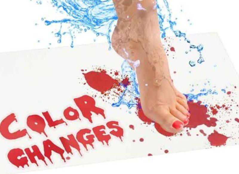 Real Bleeding Bloody Bath Mat