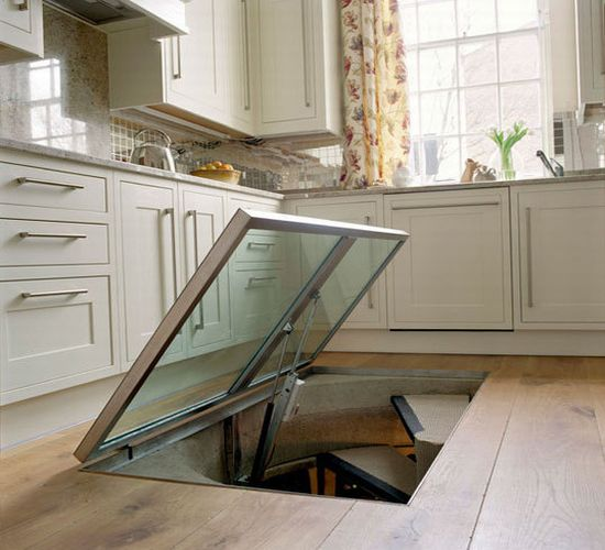 Spiral wine cellar beneath your kitchen floor hometone for Wine cellar in floor