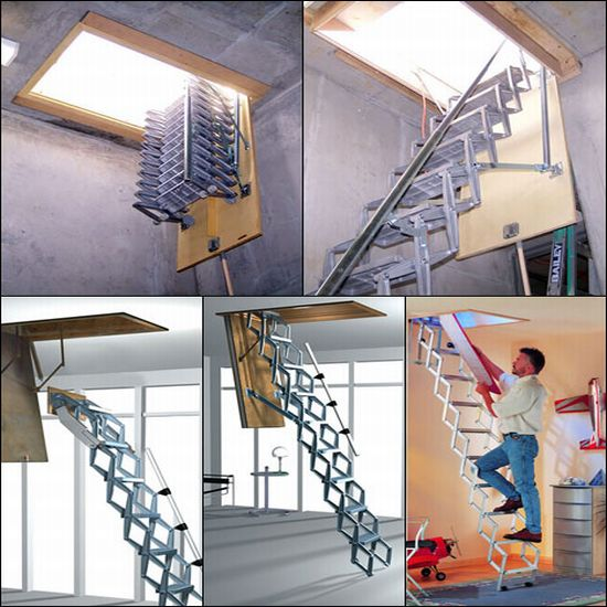 Attic Ladders: Cool solution for small apartments - Hometone