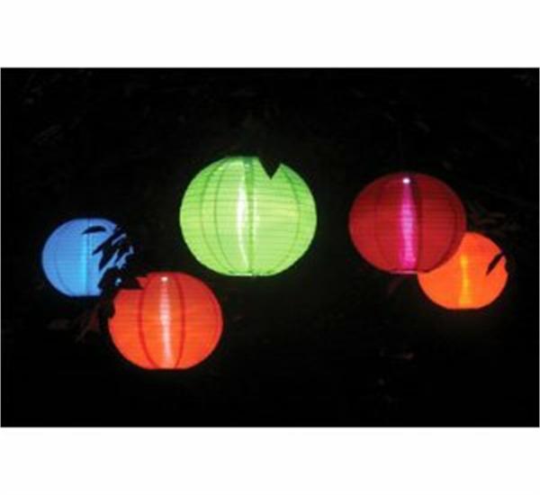10 LED Solar Chinese Hanging Lanterns