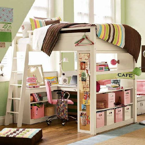 A loft bed was always designed to make the optimum utilization of bedroom  space. However, now we need space for our desktops, and to study and store  books ...