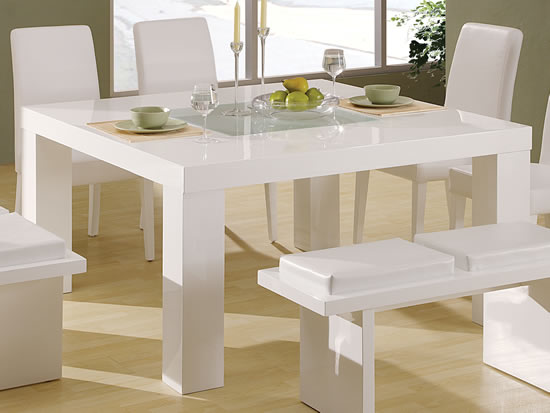 Elegant white dining tables hometone home automation and smart home guide Small white dining table