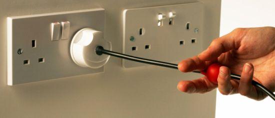 3pin british plug