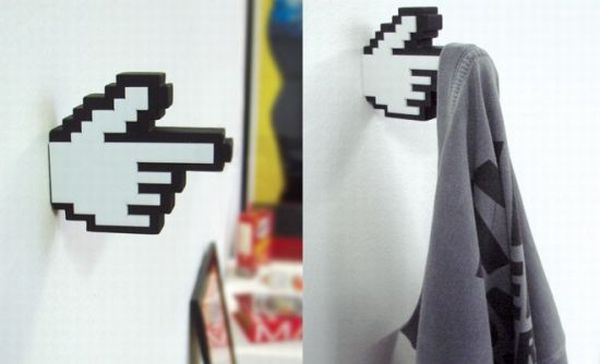 8-Bit pixelated pointy finger