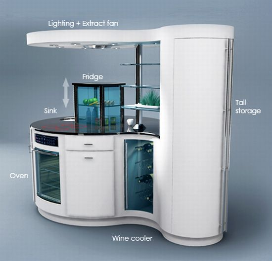Compact homes smart kitchen for small apartments hometone - Cocinas muy pequenas ...