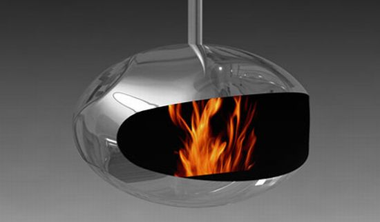 adjustable hanging fireplace cocoon fires 2