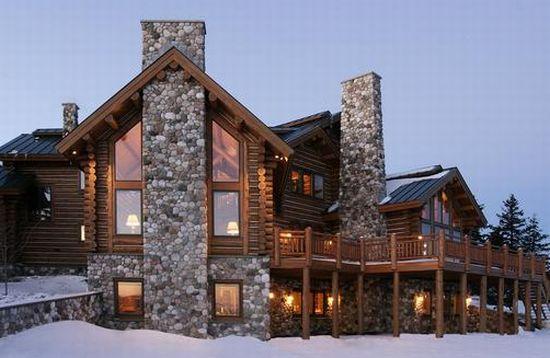 alpine log home