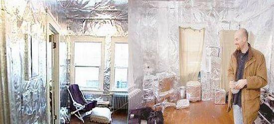 aluminum foil encased apartment
