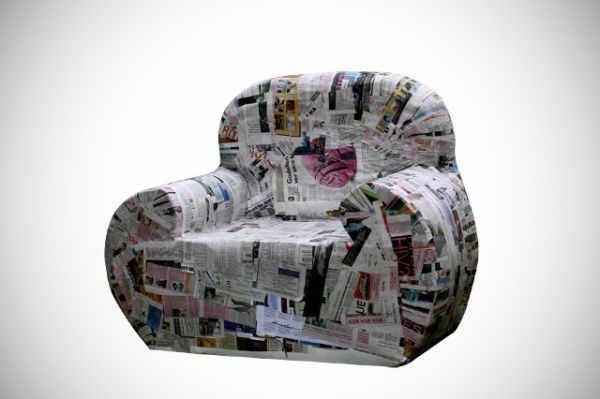 Amazing paper furniture made from recycled paper hometone for Paper mache furniture ideas