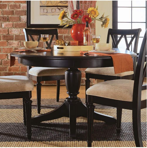 Dining Table Camden Black Round Dining Table