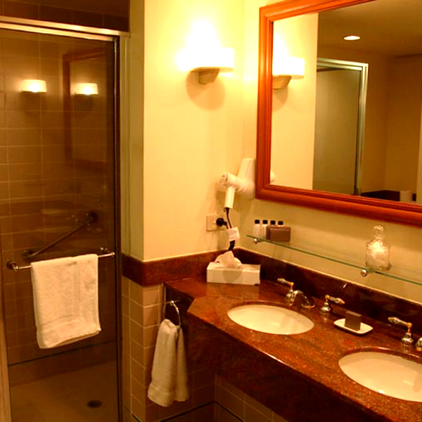 An instance of lighting arangement in a bathroom