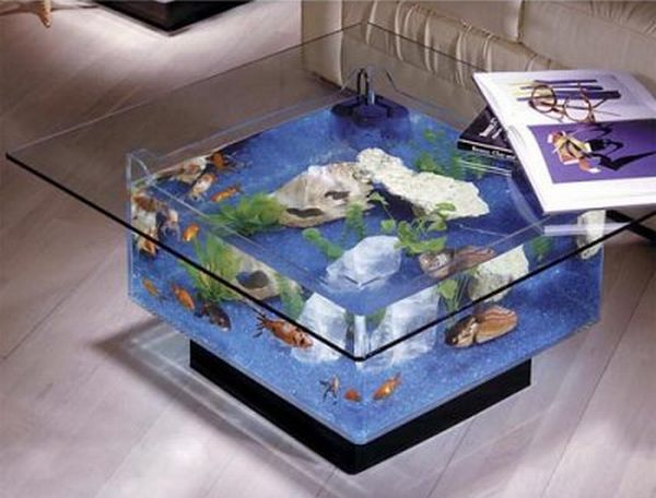 most elegant coffee tables with built in aquarium hometone. Black Bedroom Furniture Sets. Home Design Ideas