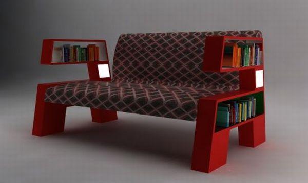 Armchair bookcase