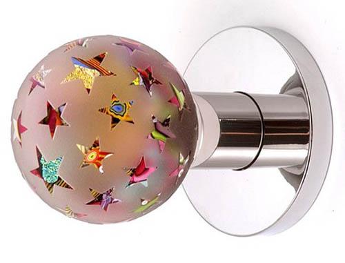 Artistic glass door knob