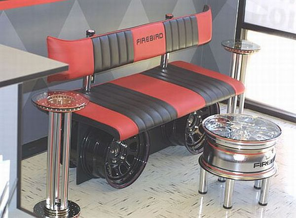 Seven unique furniture designs made from old auto parts hometone Unique home furniture design