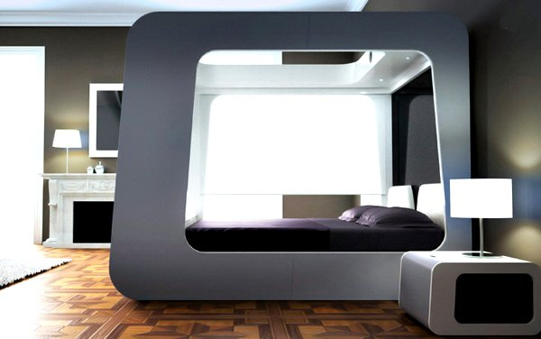 Automated canopy bed