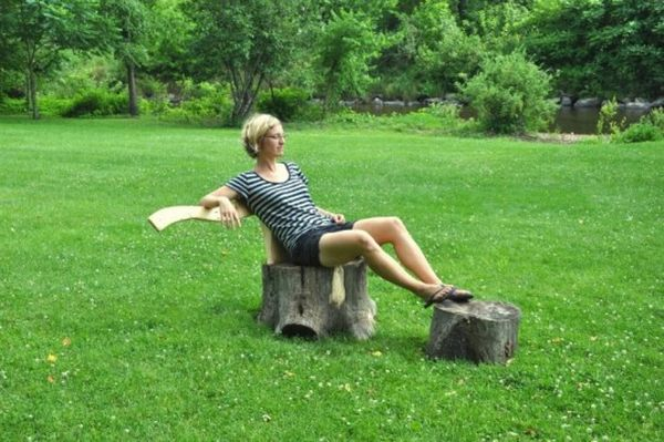 Axe and Stump chair