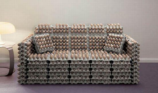 axn egg crate sofa