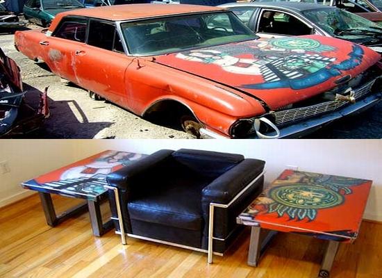Creative Coffee Tables Made Of Car Hood Clunkers Hometone