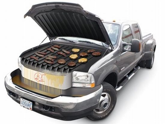 barbecue under the hood