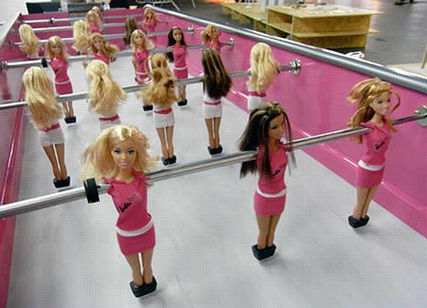 Barbie Foosball Table