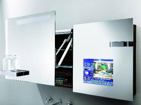 bathroom mirror tv cabinet hoessch design