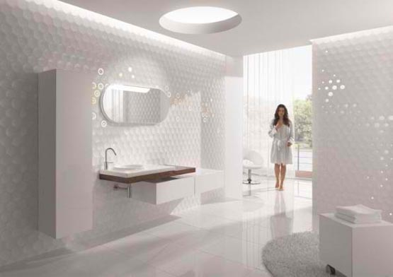 Bathroom wall decoration by Cube & Dots
