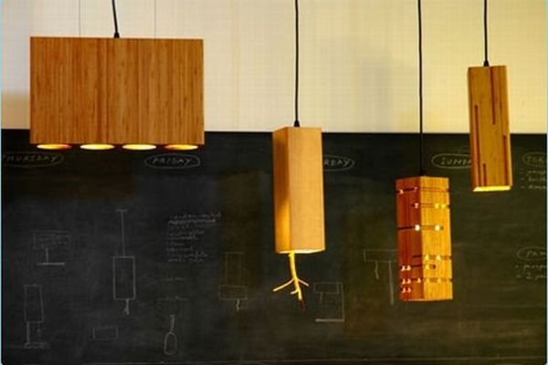 Beautiful and tranquil bamboo lamp