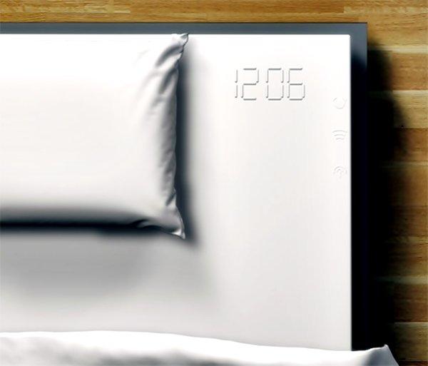 Bed sheet embedded alarm clock
