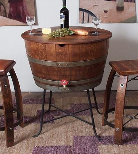 Dining Table Dining Table Wine Barrel
