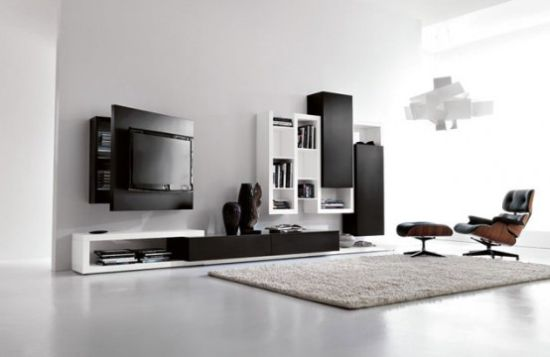 black and white living room furniture with functio