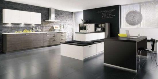 black white kitchen alno