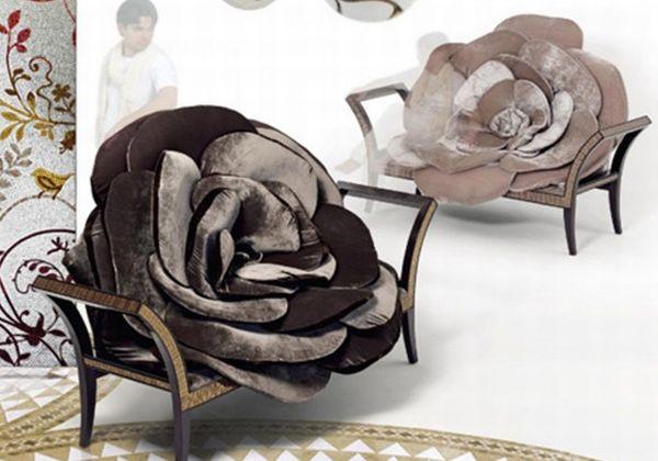 Black rose chair