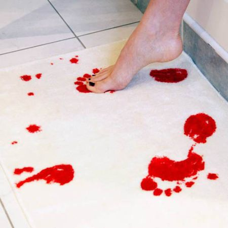 bloody shower mat