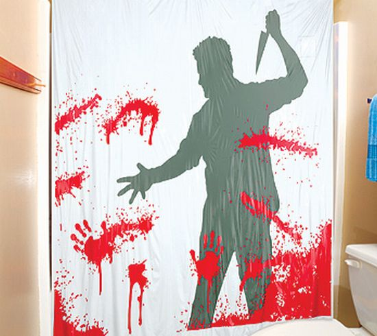 Blood themed home furnishings to freak your senses - Coole duschvorha nge ...