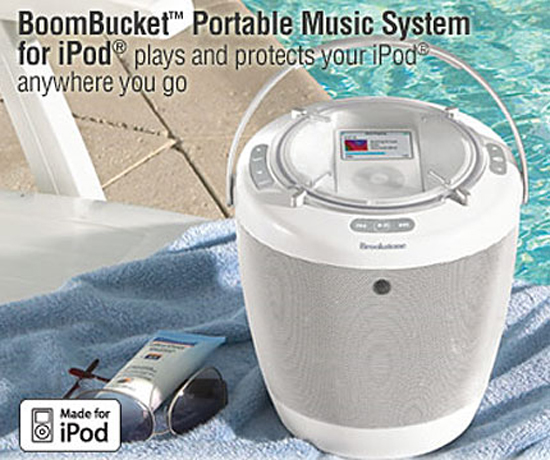 boombucket portable ipod music system Kqy1B 18562