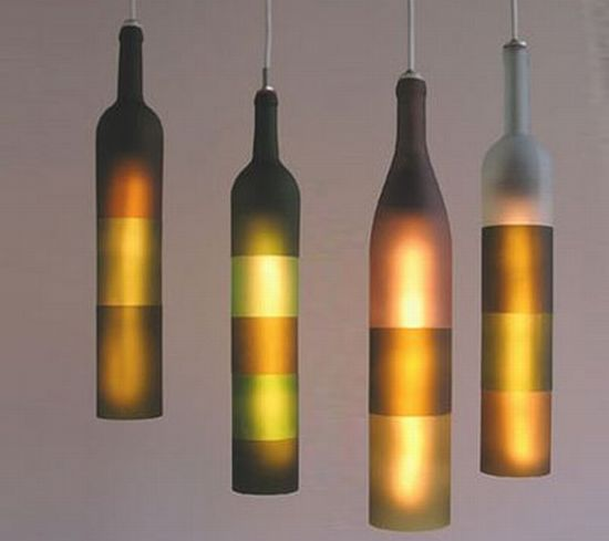 bottle pendant lamp