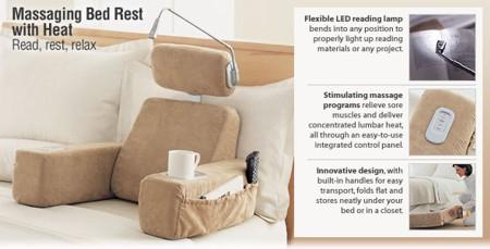 brookstone massaging bedrest pillow 2263