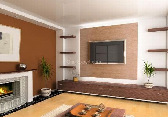 brown color room