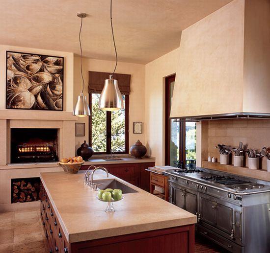 brown kitchen