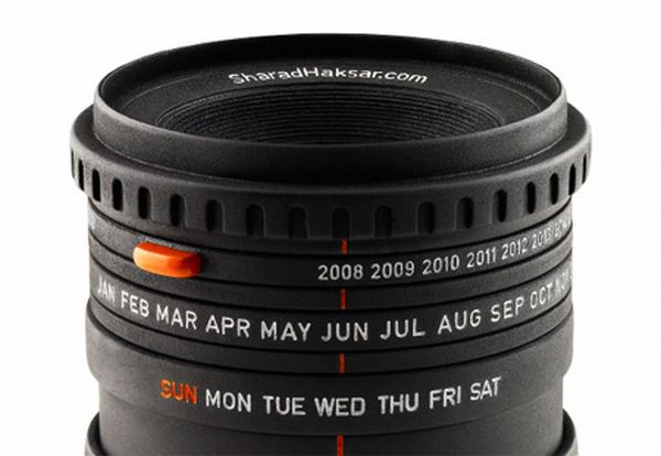 Camera Lens Calendar