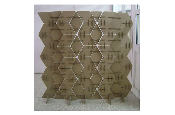 How to make your own cardboard room divider hometone for Make your own room divider