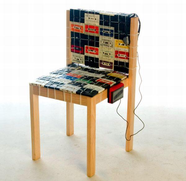 cassette tape chair ooomydesign 1