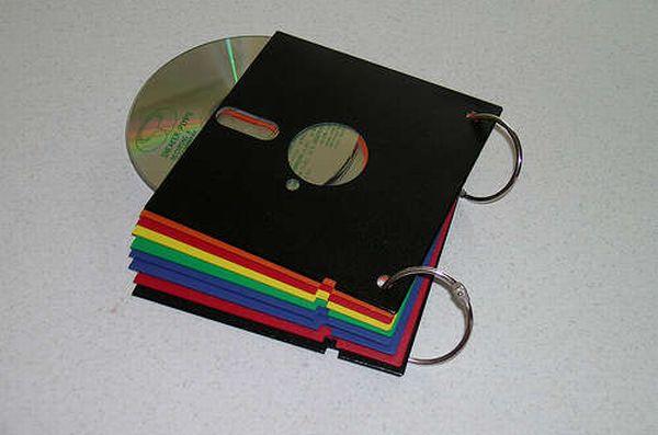 CD wallet form old floppy disc