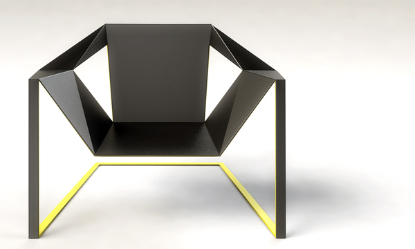 Chair inspired by a meditating monk